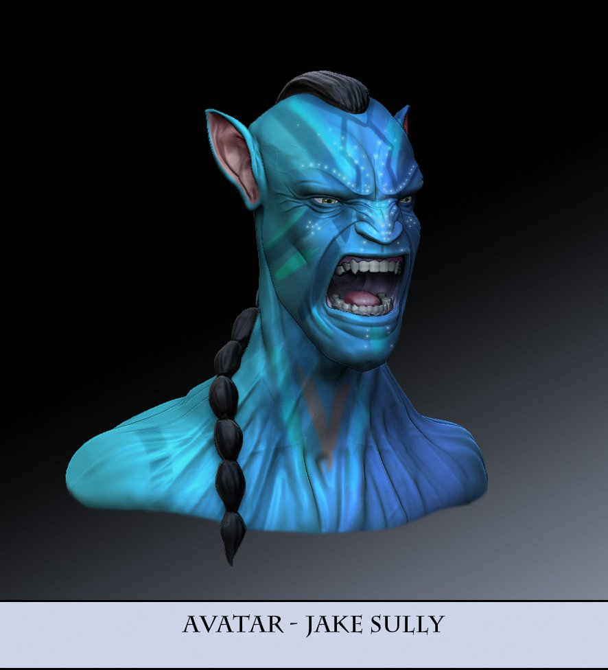 Jake Sully Avatar 2: Jake Sully Avatar Portrait